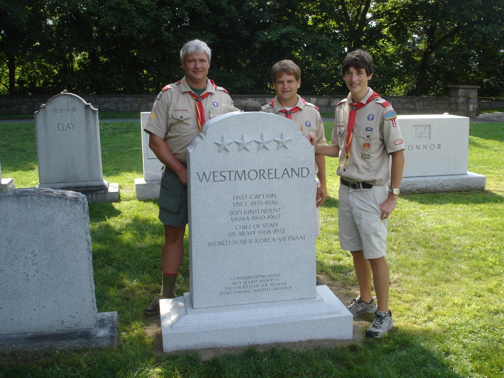 Troop 1 raises funds for West Point marker for General Westmorland.