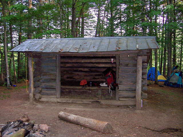 Pity, that deer lick shelter on appalachian trail